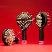 China Post Free Shipping Rainbow Volume Brush,Magic Massage anti-static  Brush,Hair Tangle Brush
