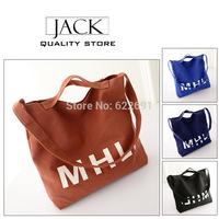 Fee delivery lady handbag of 2014 new 4 color printed canvas girl trend letters recreation bag women messenger bag shoulder bag