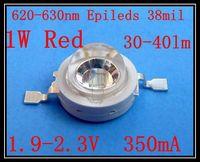 Red Power LED1watt 620-630nm Red 30-40lm 50pcs/lot