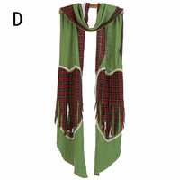 The Van Pretty art Love-heart cotton plaid design patchwork long funny scarf shawl for women ,NL-2227