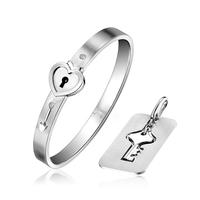 Ya Han high quality titanium steel bracelet female eternal contract bracelet jewelry lovers heart lock key does not fade