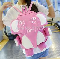 2014 new fashion cute cartoon elephant schoolbag / backpack / free shipping