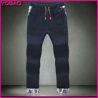 2014 New Fashion Men's Large size Loose Casual Straight Thin Section Five Kinds Of Color Flax Pants JCBH009 Plus size M - 5XL