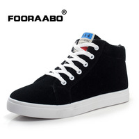 Free Shipping New Fashion Winter High-top Shoes Breathable Casual Rubber Bottom Canvas Lace-up Men Shoes