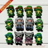 New 2014 Kids Accessories -60pcs Teenage Mutant Ninja Turtles,TMNT PVC Shoe Charms,Shoe Accessories,bracelets charms,Kids Gifts