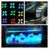 Hot Glow in the Dark Cobbles Pebbles Stones Garden Walkway Aquarium Fish Tank Hot  Free Shipping 100pcs/lot