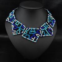 Wholesale Fashion jewelry Perfume women Accessories Rhinestone Exaggerate Collares Bijoux Vintage statement Choker Necklace