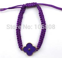KOREA fashion Fluorescent color handmede woven rope bracelet & bangle