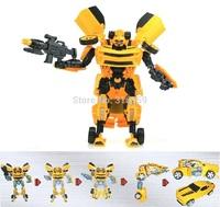 25cm Transforms 4 Leader Optimus/Bumblebee Robot Model Transformation Action Figure boy's gift Toys