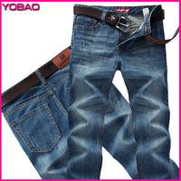 2014 New Fashion Autumn Men's Large size Slim Washing Wear White Comfort Casual Jeans tjs 13502 Plus size 28-42 free shipping