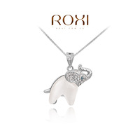 Wholesale ROXI Fashion Accessories Jewelry Austria Crystal With SWA Element Charming Opal Elephant Pendant Necklace for Women