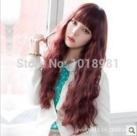 Heat Resistant Fiber Long Curly Clip peluca in Synthetic Hair wig women hair accessories 3colors peruca