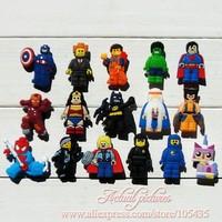16Pcs/lot Lego PVC Shoe Charms in shoe decoration For Bracelets,Shoe Accessories,Mixed 16 models,Party Favors,Kid Toy