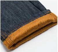 2014 Free Shipping Add polar fleece jeans Keep warm in winter Authentic jeans  Korea Men's Jeans Slim Fit Classic denim Jeans