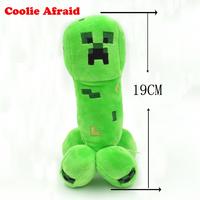 19Cm Green Genuine JJ dolls stuffed plush minecraft creeper coolie afraid of plush toys of my world Game Cartoon Toys
