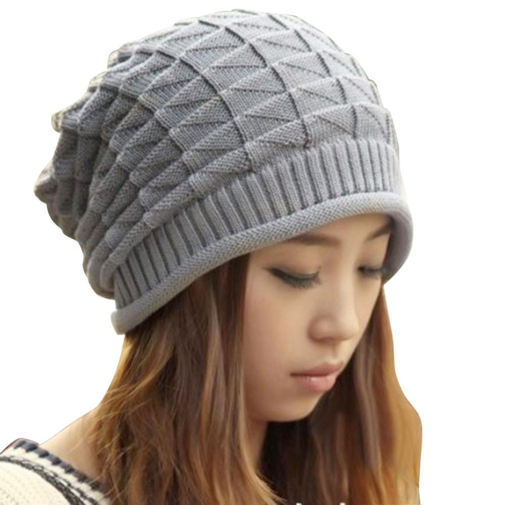 Knitting Pattern Mens Beret : Autumn Winter Sphere Devor Knitted Hat Womens Hat Ear Protector Cap Bomber Ha...