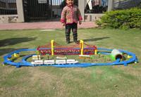 Cheaper Railroad Harmony Electric Toy Train Orbits &Thomas Train Electric railway Truck Car Thomas Train Set Toys for Children