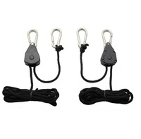 One Pair 2 Rope Ratchet Heavy Duty Grow Light Hanger 2pcs Adjustable Hangers Hydroponics