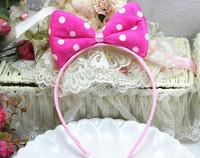 Fashion Cute Lovely Children's hair bands large bow headband hair accessories head buckle Hair Accessories Free Shipping