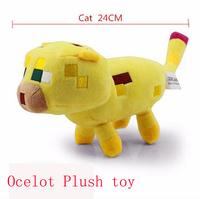 Retail Minecraft Plush toys,24CM Minecraft Ocelott stuffed toys, Toys for Children High Quality Baby toys Free shipping