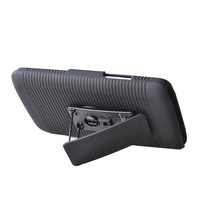 New arrive Hybrid Layer Holster Case Cover Kick Stand with Locking Belt Swivel Clip for LG L80 D373 dropshipping