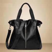 Genuine Leather Women Handbag Leather Tote Fashion Casual Bag Shoulder Bags Women Messenger Bag Crossbody Bolsas Large Space Bag