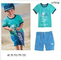 2014 New Baby Boys Clothing Set 2-6 Years O-Neck Short Sleeve T-Shirt + Short Pants 2Pcs Suits Kid Clothes Dropshipping K4111