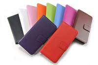100pcs/lot leather card holder turned left and right phone protection cover case for iPhone 6