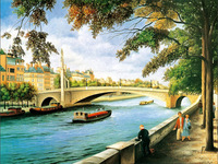 Hot Sell Water Village Side Beauty Scenery No Frame Only Canvas For Christmas Gifts Canvas Prints Home Decor Wall Pictures