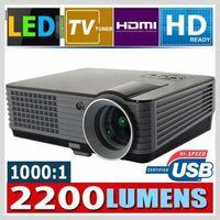 GR Stock! 2200 Lumens HD LCD Projektor 50,000 hrs LED Lamp Heimkino LED Beamer forWII forXBOX360