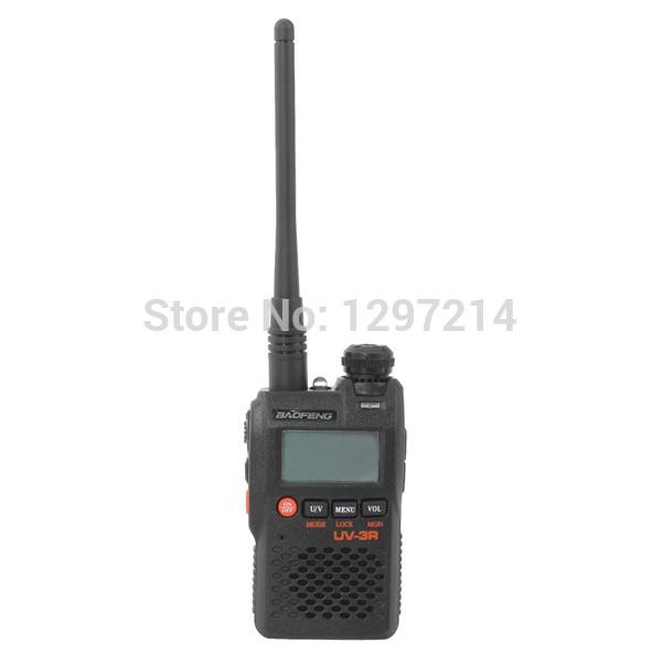 Free Shipping Baofeng UV-3R Dual Band Handheld Transceiver Radio Interphone Walkie Talkie(China (Mainland))
