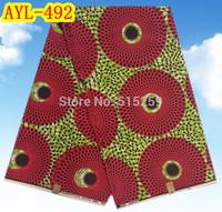 6yards/lot,beautiful big eyes pattern Hollandais wax prints cloth ! free shipping African style wax fabric! AYL-492