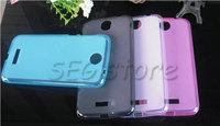 free shipping Case for Lenovo A860e a860 Simple Pudding TPU soft back case protect for Lenovo A860e a860  four-color