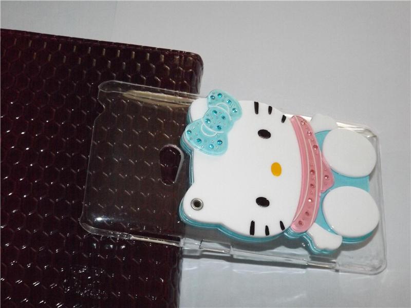 Luxury Handmade 3D cartoon hello kitty ,ali the fox, rabbit with mirror cover case for NOKIA lumia 625 ,16 colors free shipping(China (Mainland))