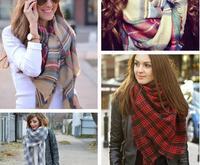 Winter 2014 Tartan Scarf Desigual Plaid Scarf Unisex Acrylic Wool Basic Shawls Women's Scarves Big Size 140 *140 CM High quality