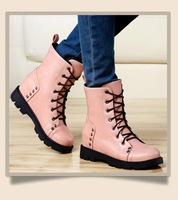 Womens Shoes Lace Up Martin Boots Fashion Military Fashion Shoes Free Shipping