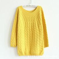 2014  Hot Sale Fashion Winter Women Loose Sweater  Woolen Sweater Knitted Sweater