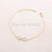 Min 1pc Gold and Silver infinity Bracelet for lady,brass bracelet SL003