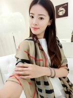 Winter 2014 Brand Silk Plaid women Scarf  Basic Shawls Women's Scarves Big Size Satin Shawl Christmas Gifts