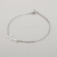 Min 1pc LOVE Bracelet in Gold and silver,tiny bracelet SL004