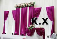 2.5M*6M Wedding Backdrop\Wedding Drape Curtain Include The Sequin Fabric