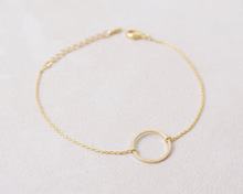 Min 1pc Open Circle Bracelet in gold and silver SL007