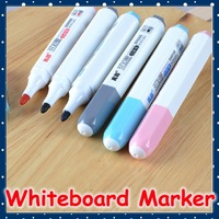 [FORREST SHOP] Office School Supplies High Quality Whiteboard Marker Pen Black Red Ink Color (24 Pieces/lot) 300008