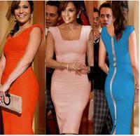 Fashion simple and elegant Slim short-sleeved dress