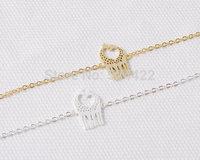 Min 1pc Gold and Silver Loving Giraffes Bracelet Cute Animal Jewelry SL010
