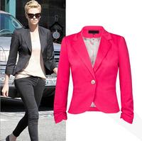 2014 Spring women short casual jacket suit, cardigans, blaser feminino, chaquetas mujer, women coat, women blazers and jackets