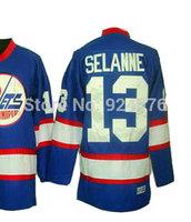 Ice Hockey Jerseys Anaheim Ducks #8 Teemu Selanne Jersey Throwback Koho Blue