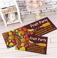 2015 Real New Tapete Promotions! Home Decor Carpets Fruit Bedside Mats Doormat Party Slip Mat Carpet Floor Long Section 40x60cm