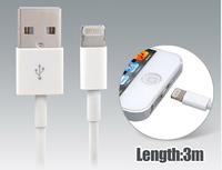 3.0 m Charging Cable for iPhone 5, iPad Mini, iPad 4, iPod Touch 5, iPod Nano 7 (White)