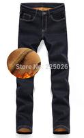 2014 Fashion Designer Brand Men Jeans Denim Pants Trousers,Autumn Winter With Warm Pants Blue Men's Jeans Casual Style Sports